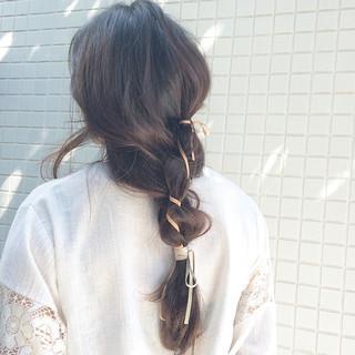 ヘアアレンジ ロング 結婚式 簡単ヘアアレンジ ヘアスタイルや髪型の写真・画像