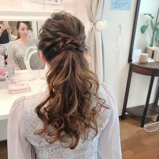 ローポニーテール エレガント 結婚式 ロング ヘアスタイルや髪型の写真・画像