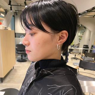 モード ショートヘア ウルフカット ショート ヘアスタイルや髪型の写真・画像