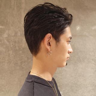 ナチュラル メンズショート ショート ツーブロック ヘアスタイルや髪型の写真・画像 | 刈り上げ・2ブロック専門美容師 ヤマモトカズヒコ / MEN'S GROOMING SALON AOYAMA by kakimoto arms