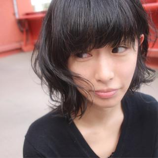 アンニュイ ウェーブ 冬 パーマ ヘアスタイルや髪型の写真・画像