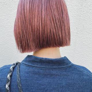 ショートボブ ボブ ミニボブ 切りっぱなしボブ ヘアスタイルや髪型の写真・画像