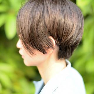 ショートボブ オフィス 外国人風 モード ヘアスタイルや髪型の写真・画像