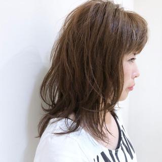 すっきり 涼しげ ミディアム デート ヘアスタイルや髪型の写真・画像