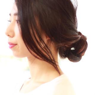 ヘアアレンジ 黒髪 大人かわいい ロング ヘアスタイルや髪型の写真・画像 ヘアスタイルや髪型の写真・画像
