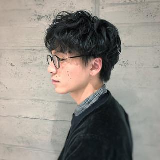 ゆるふわパーマ パーマ ナチュラル ショート ヘアスタイルや髪型の写真・画像