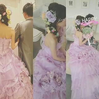 ブライダル ヘアアレンジ 結婚式 ロング ヘアスタイルや髪型の写真・画像