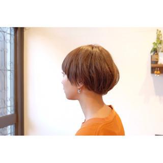 ナチュラル 坊主 大人女子 ショート ヘアスタイルや髪型の写真・画像