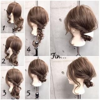 簡単ヘアアレンジ 女子会 セミロング リラックス ヘアスタイルや髪型の写真・画像