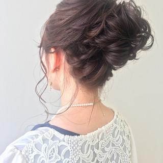 ヘアアレンジ ゆるふわセット 大人可愛い 結婚式 ヘアスタイルや髪型の写真・画像