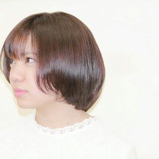 大人かわいい モテ髪 ボブ 艶髪 ヘアスタイルや髪型の写真・画像