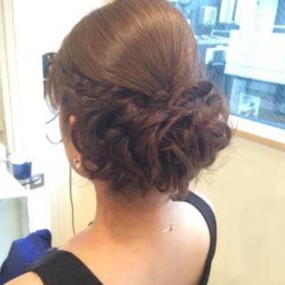 結婚式 ヘアアレンジ アップスタイル ロング ヘアスタイルや髪型の写真・画像