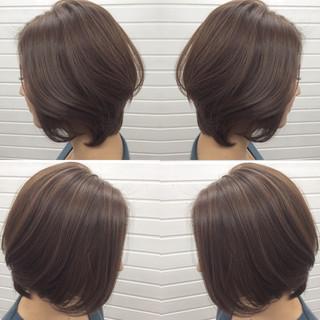 ハイライト ボブ コンサバ 小顔 ヘアスタイルや髪型の写真・画像