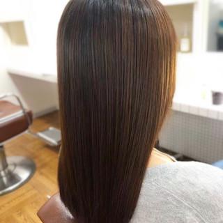 ストレート セミロング 縮毛矯正ストカール 縮毛矯正 ヘアスタイルや髪型の写真・画像