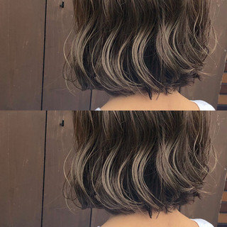 ミルクティーベージュ ナチュラル 地毛風カラー ボブ ヘアスタイルや髪型の写真・画像