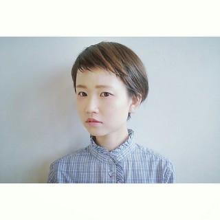 ナチュラル ショート ショートバング ヘアスタイルや髪型の写真・画像