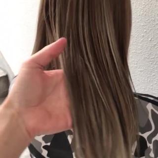 ストリート 卒業式 ハイライト セミロング ヘアスタイルや髪型の写真・画像