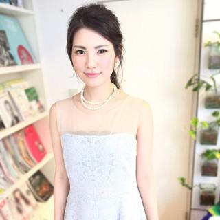 結婚式 外国人風 涼しげ ヘアアレンジ ヘアスタイルや髪型の写真・画像