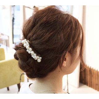 ヘアアレンジ アンニュイ 結婚式 女子会 ヘアスタイルや髪型の写真・画像
