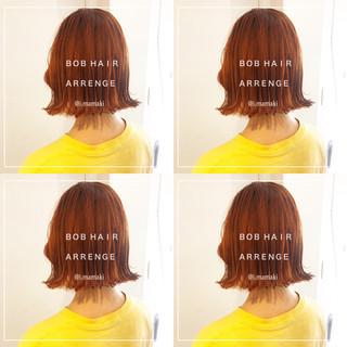 渋谷系 オルチャン ボブ ナチュラル ヘアスタイルや髪型の写真・画像