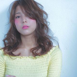 アッシュ ミディアム ブラウン 外国人風 ヘアスタイルや髪型の写真・画像