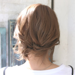ナチュラル リラックス ショート ヘアアレンジ ヘアスタイルや髪型の写真・画像