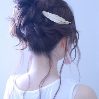 アンニュイ 結婚式 ヘアアレンジ ロング ヘアスタイルや髪型の写真・画像