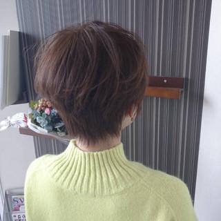 ヘアカラー ナチュラル ショートヘア イルミナカラー ヘアスタイルや髪型の写真・画像