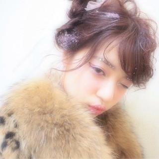 ヘアアレンジ ロング ピュア モテ髪 ヘアスタイルや髪型の写真・画像