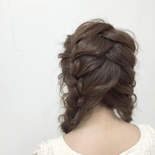 編み込み 愛され モテ髪 簡単ヘアアレンジ ヘアスタイルや髪型の写真・画像 ヘアスタイルや髪型の写真・画像