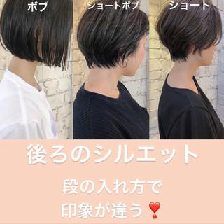 ミニボブ ショートボブ ショートヘア ベリーショート ヘアスタイルや髪型の写真・画像