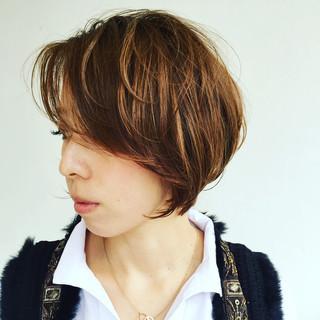 ショート ナチュラル ゆるふわ 外国人風 ヘアスタイルや髪型の写真・画像