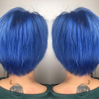 ストリート アッシュ ハイライト ショート ヘアスタイルや髪型の写真・画像