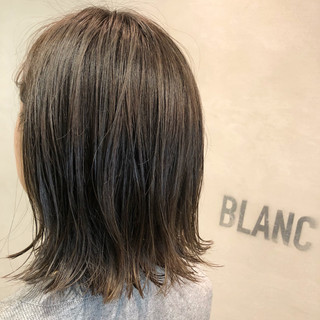 ヘアアレンジ ハイライト ナチュラル グレージュ ヘアスタイルや髪型の写真・画像