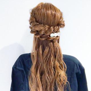 ヘアアレンジ デート 謝恩会 結婚式 ヘアスタイルや髪型の写真・画像