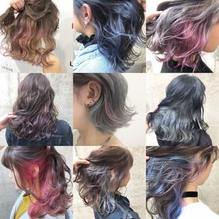 外国人風カラー グレージュ ボブ アッシュグレー ヘアスタイルや髪型の写真・画像