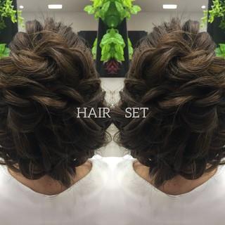 成人式 エレガント ヘアセット 結婚式ヘアアレンジ ヘアスタイルや髪型の写真・画像