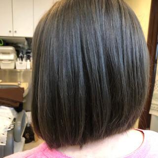 ボブヘアー ナチュラル 艶カラー まとまるボブ ヘアスタイルや髪型の写真・画像