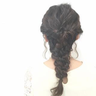 編み込み フェミニン 大人かわいい ヘアアレンジ ヘアスタイルや髪型の写真・画像