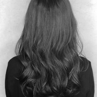 デート 黒髪 ロング パーマ ヘアスタイルや髪型の写真・画像