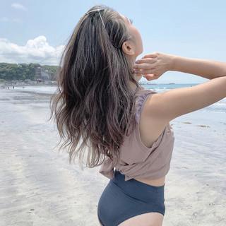 レイヤーロングヘア ナチュラル ロング 3Dハイライト ヘアスタイルや髪型の写真・画像