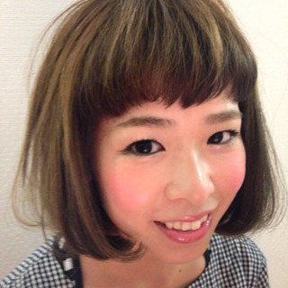 キュート ハイライト ショートバング ゆるふわ ヘアスタイルや髪型の写真・画像
