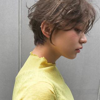 ショート ナチュラル 前髪あり スポーツ ヘアスタイルや髪型の写真・画像
