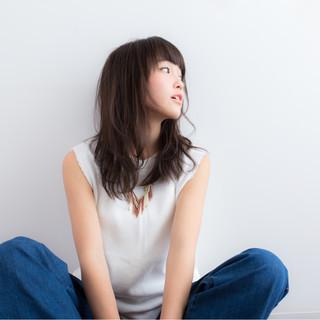 暗髪 ピュア アッシュ ナチュラル ヘアスタイルや髪型の写真・画像