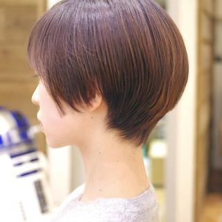 大人かわいい ショートカット ショートボブ ナチュラル ヘアスタイルや髪型の写真・画像