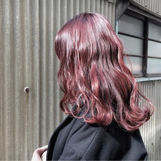 デート モード ピンク アンニュイ ヘアスタイルや髪型の写真・画像
