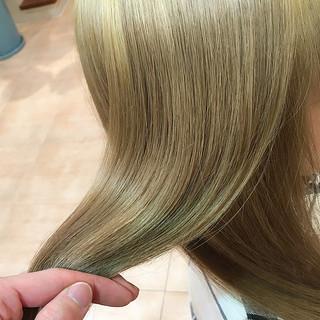 ブリーチ ダブルカラー トリートメント モード ヘアスタイルや髪型の写真・画像 ヘアスタイルや髪型の写真・画像