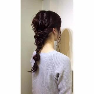 簡単ヘアアレンジ ミディアム ショート ハーフアップ ヘアスタイルや髪型の写真・画像