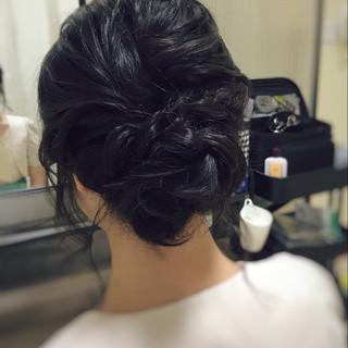 お呼ばれ 大人可愛い ミディアム 結婚式 ヘアスタイルや髪型の写真・画像 ヘアスタイルや髪型の写真・画像