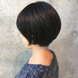 こなれ感 黒髪 ショートボブ 色気 ヘアスタイルや髪型の写真・画像
